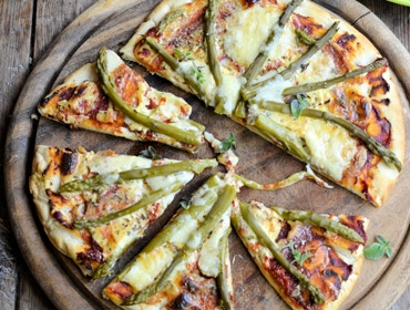 Applewood® Cheese and Asparagus Pizzas